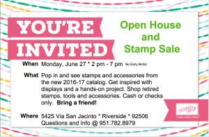 Open House & Sale Invitation