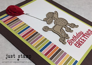 Just Stamp | Birthday Delivery Poodle Detail