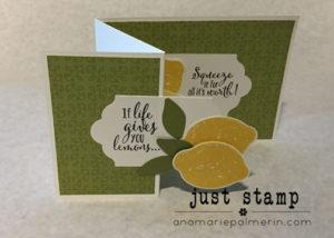 Stampin Up! Lemon Zest Z-fold Card