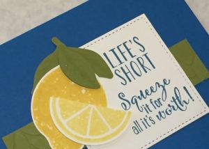 Lemon Zest Pacific Point Notecard Detail