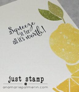 Lemon Zest Encouragement Card